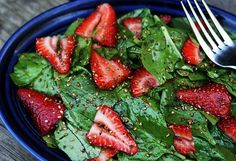 Strawberry spinach salad. Substitute the sugar with honey and add slivered almonds.