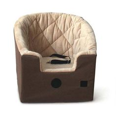 "The ultimate comfort in booster seats! Back of the car seat is contoured for a better fit inside the vehicle. Elevates pet for better view Fits in front or back seat Sleeping Dimensions: 18"" x 13"""