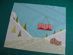 Let's hit the slopes Paper Piecing Patterns, Applique Patterns, Quilt Patterns, Wool Applique, Patchwork, Mug Rug Tutorial, Foundation Paper Piecing, Quilt Making, Shirt Quilt