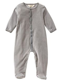 Organic Velour Footed One-Piece