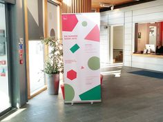 Roll-up banner for Arts University Bournemouth Master's show