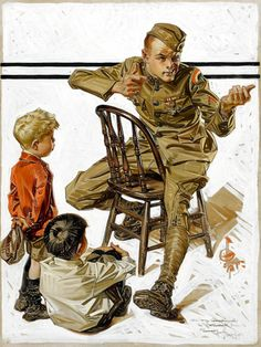 67 Ideas For American History X Poster Norman Rockwell Peintures Norman Rockwell, Norman Rockwell Art, Norman Rockwell Paintings, American Illustration, Illustration Art, Magazine Illustration, Jc Leyendecker, Illustrations Vintage, Art Of Manliness