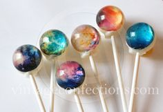 6 flavor assortment Nebula space Lollipops by Vintage Confections by VintageConfections on Etsy https://www.etsy.com/uk/listing/246147872/6-flavor-assortment-nebula-space