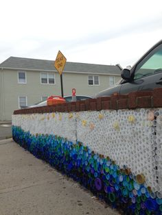"""letmypeopleshow: """" Great future in plastics: 'When the Beach Met the Bay,' a public-art mural of 24,000 bottlecaps collected by kids in Long Beach, New York, for Project Vortex with artist Lisa Be. """""""