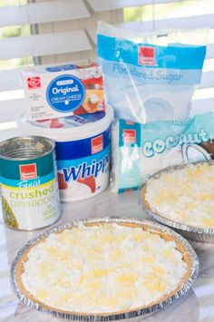 No-bake pineapple cream pie is a dream come true! You& need just and about 5 minutes for prep. Pineapple Delight, Pineapple Pie, Baked Pineapple, Pineapple Desserts, Delicious Deserts, Great Desserts, Summer Desserts, No Bake Desserts, Dessert Recipes