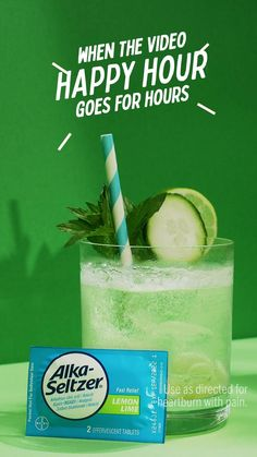 Healthy Cocktails, Yummy Drinks, Alka Seltzer, Alcohol Drink Recipes, Mojito Mocktail, Smoothie Recipes, Smoothies, Aesthetic Food, Cocktail Recipes
