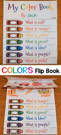 This fun color flip book is included in a crayon thematic unit that is fun to use any time during the year! It contains a variety of creative color activities that encompass many areas of the curriculum, such as reading, writing, math, and art! Creative Curriculum, Preschool Curriculum, Preschool Learning, Kindergarten Classroom, Kindergarten Activities, Classroom Activities, Learning Activities, Preschool Activities, Homeschooling