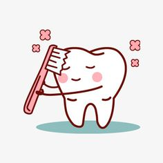 Hand-painted cartoon tooth PNG and Clipart