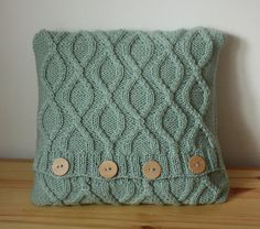 Knit cable pillow cover, sweater pillow, Knitted pillow case Decorative cushion…