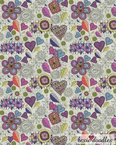 Attachment- Happy Garden #pattern #illustration