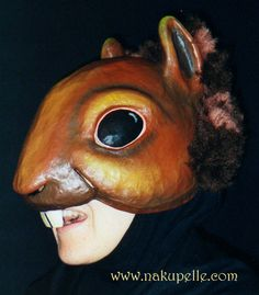 Squirrel mask made by nakupelle. Artist: Minna Matilda. Part of a collection made for the Juilliard School.