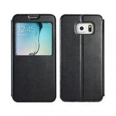 Galaxy S6 edge plus musta ikkunakuori.