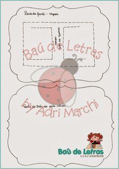 .::BAÚ DE LETRAS::. E.v.a. e Scrapbook: Molde Moldura Pai Natal                                                                                                                                                                                 Mais