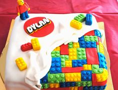 Lego Birthday Party Cake