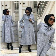 Abaya Fashion, Muslim Fashion, Modest Fashion, Skirt Fashion, Fashion Outfits, Trench Coats, Hijab Dress Party, Modele Hijab, Mode Abaya