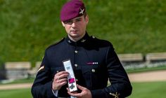 Joshua Leakey with his VC medal. The soldier played down his heroics after being honoured
