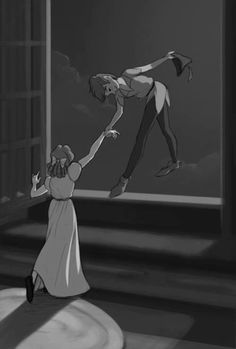 """""""Wendy,"""" Peter Pan continued in a voice that no woman has ever yet been able to resist, """"Wendy, one girl is more use than twenty boys. Barrie's Peter Pan<< """"I am a lost boy, from never land. Disney Pixar, Disney And Dreamworks, Disney Art, Walt Disney, Disney Characters, Disney Love, Disney Magic, Wendy Peter Pan, Wendy Costume Peter Pan"""