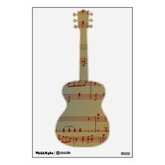 Vintage Music Notes Wall Skins