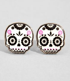 Day of the dead earrings @rocktopussy desperately needs!