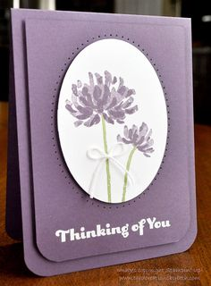 Thinking of You Card Stampin Up Floral by CardCreationsbyBeth, $3.00