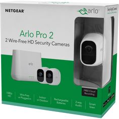 Arlo Pro 2 1080P HD Security Camera System VMS4230P - 2 Wire-Free Rechargeable Battery Cameras with Two-Way Audio, Indoor/Outdoor, Night Vision, Motion Detection, Activity Zones, 3-Second Look Back - Walmart.com - Walmart.com Alarm Systems For Home, Best Home Security, Wireless Home Security Systems, Security Cameras For Home, Home Monitoring System, Free Cloud Storage, Wireless Camera, Home Surveillance, Night Vision
