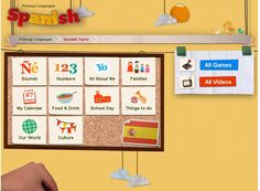 Spanish resources from the BBC: Spanish songs, Spanish videos, Spanish games and Spanish activities for kids. http://www.bbc.co.uk/schools/primarylanguages/spanish/sounds/