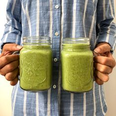 Smoothie Healthy Smoothies, Smoothie Recipes, Raw Food Recipes, Cooking Recipes, Lchf, Pesto, Mason Jars, Health Fitness, Food And Drink