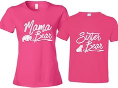 Mama Bear Shirt Sister Bear Toddler Tee Gift for Mom Womens 2XL  Pink Size2 *** You can find out more details at the link of the image. (This is an affiliate link) #BabyGirlTops