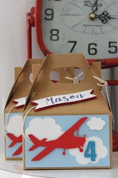 Check out this awesome airplane birthday party! The party favor boxes are beautiful! See more party ideas and share yours at CatchMyParty.com #catchmyparty #partyideas #airplanes #airplaneparty #boybirthdayparty #partyfavorboxes Airplane Party Favors, Boy Party Favors, Baby Shower Favors, Girl Birthday, Birthday Parties, Packaging Ideas, Favor Boxes, Airplanes, Birthdays