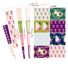 April Fancy Deer Full Kit   Erin Condren Planner Stickers