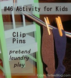 Things to do with a Toddler: Clothespin Play