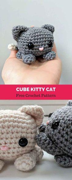 45 Ideas Crochet Amigurumi Free Patterns For Beginners Kids For 2019 Crochet Diy, Crochet Amigurumi Free Patterns, Crochet Crafts, Crochet Dolls, Crochet Projects, Crochet Cat Pattern, Crochet Ideas, Crocheting Patterns, Art Projects