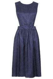 Polka Dot Silk Pini Dress by Boutique