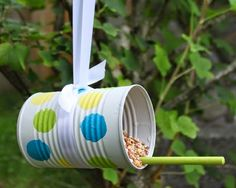 Can Projects Fun crafts for kids. Make your own bird feeder with a tin can.Fun crafts for kids. Make your own bird feeder with a tin can. Tin Can Crafts, Fun Crafts For Kids, Diy For Kids, Tin Can Diy Projects, Kids Fun, Wood Crafts, Craft Projects, Wooden Bird Feeders, Diy Bird Feeder