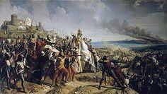 Battle of Montgisard in 1177 by Charles Philippe Lariviere http://en.wikipedia.org/wiki/Battle_of_Montgisard