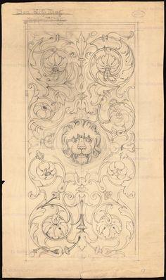 who:(Baum, Philipp) - Europeana - Search results Pattern Art, Print Patterns, Hand Kunst, Motifs Art Nouveau, Arte Judaica, Filigree Tattoo, Leather Working Patterns, Illustration Art Nouveau, Ornament Drawing