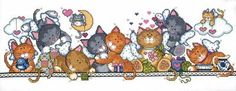 Design Works - Angel Cats - Cross Stitch World Cross Stitching, Cross Stitch Embroidery, Cross Stitch Patterns, Embroidery Store, Cat Crafts, Counted Cross Stitch Kits, Cat Design, Pet Birds, Needlework