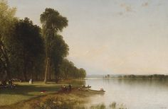 The smallest and westernmost of the eleven Finger Lakes of New York State, Conesus Lake was a popular summer resort visited frequently by Kensett to socialize with Robert M. Olyphant, one of his ardent friends and patrons, who owned a home there