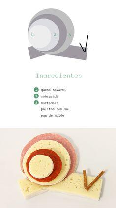 Sandwich caracol Www.dosyemas.com