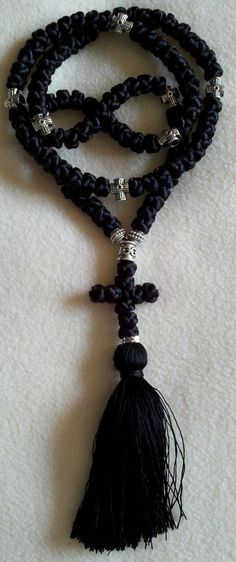 Beautiful Black Handmade Orthodox Prayer Rope.