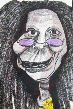 Caricature - Whoopi Goldberg (Pen paper)