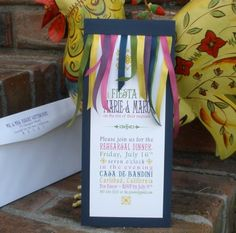 Festive Fiesta Custom Invitations by KimGrantInk on Etsy, $85.00 - for rehearsal dinner