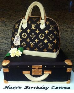LV Purse and Trunk Cake