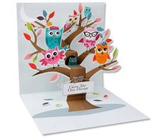 Owls Tree - Up With Paper Pop-Up Card