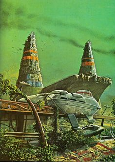 Hey there folks. Enjoy this Inspiring artwork by Colin Hay and Bob Layzell to start your day. is here to inspire your retro core. Fantasy Kunst, Sci Fi Fantasy, Space Fantasy, Sci Fi Kunst, Science Fiction Kunst, Arte Sci Fi, 70s Sci Fi Art, Arte Tribal, Classic Sci Fi