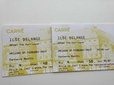 ILSE DELANGE plays at Carre,Amsterdam 7 & 8 Feb.2014.  Not my tickets but, Lucky me,sitting in 1 row 7 Feb.