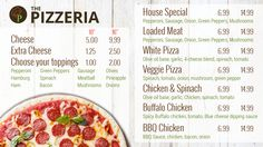 Pizzeria Digital Menu From http://menuat.com