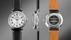 THE RUNWELL 41mm Black Leather Watch   Shinola®