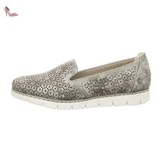 Rieker  M1375-90, Mocassins pour femme - argent - métal, - Chaussures rieker (*Partner-Link)
