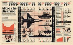 More infographics from Francesco Franchi -- dramatic use of spot color; bold but legible.
